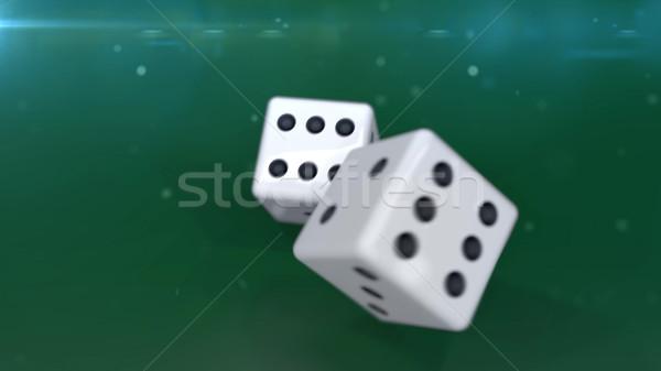 ギャンブル 孤立した 緑 2 白 クローズアップ ストックフォト © klss