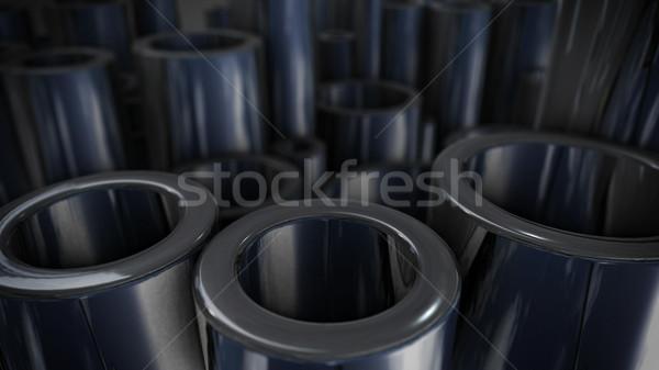 stack of steel tubing 3d rendering Stock photo © klss