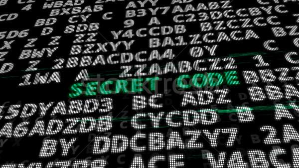 Tajne kodu zielone centrum streszczenie danych Zdjęcia stock © klss