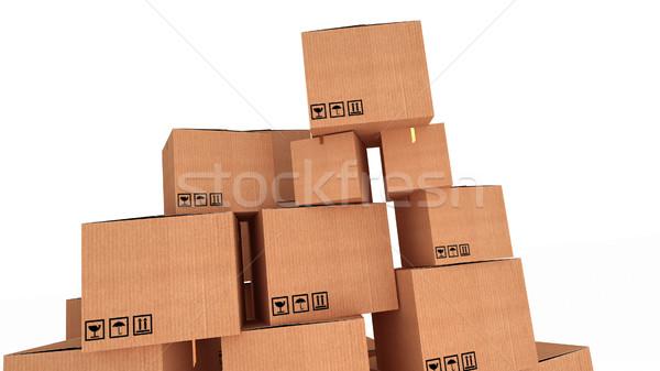 異なる 段ボール ボックス 白 孤立した ストア ストックフォト © klss