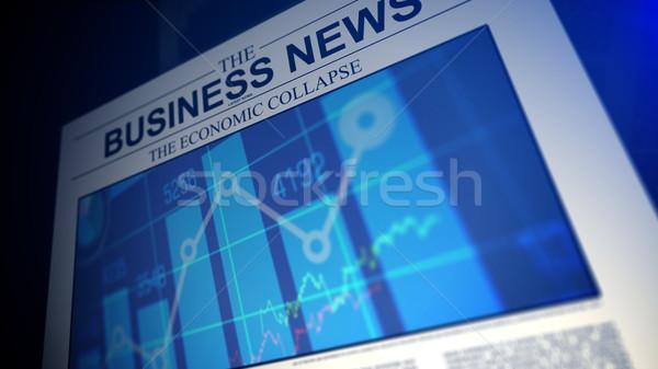 újság üzlet hírek sekély mező tőzsde Stock fotó © klss