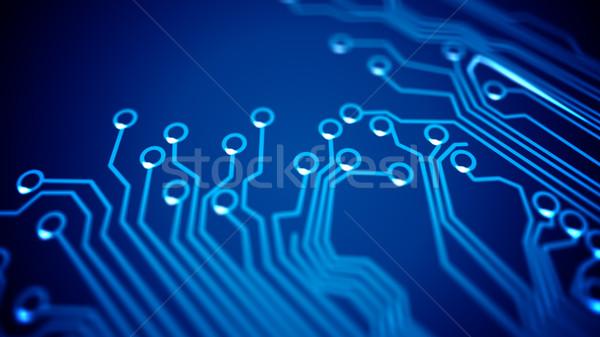 áramkör absztrakt számítógép terv ipar minta Stock fotó © klss