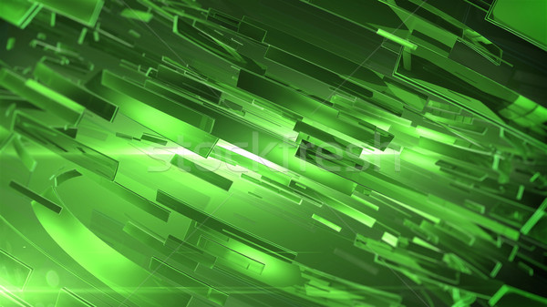 Beautiful Green 3d abstract background. Stock photo © klss
