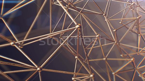 Nauki molekularny DNA model struktury działalności Zdjęcia stock © klss