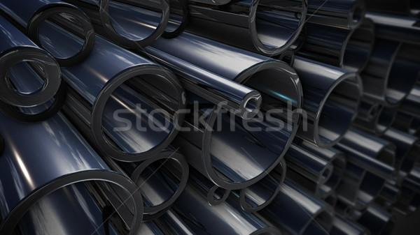 Métal 3D tuyaux Photo stock © klss
