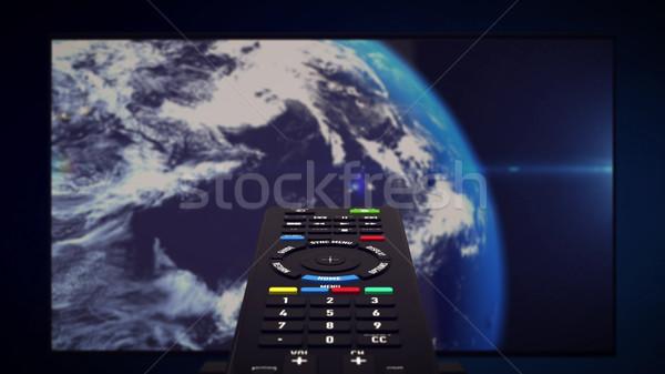 Infrarood afstandsbediening aarde planeet 3D Stockfoto © klss