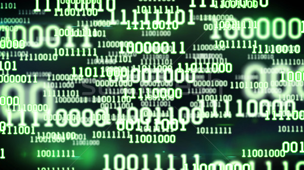 Resumen código binario Screen mesa verde ordenador Foto stock © klss