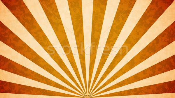 Nap kitörés retro narancs terv égbolt Stock fotó © klss