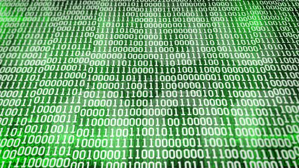 Código binario Screen mesa verde ordenador fondo Foto stock © klss