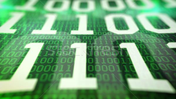 Closeup of Binary code. Stock photo © klss
