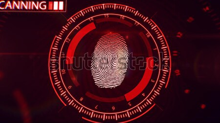 Fingerprint scanning technology. Red color. Stock photo © klss