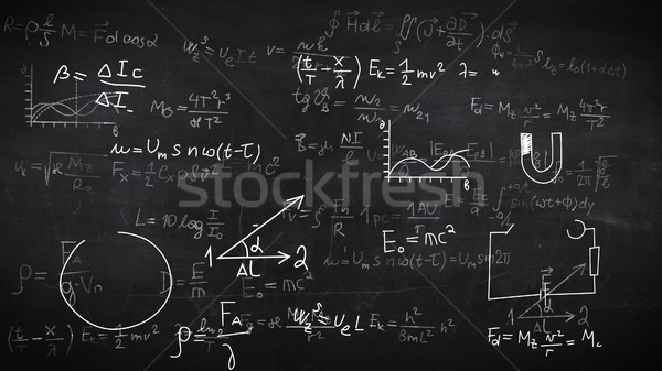 Background with physical formulas.  Stock photo © klss