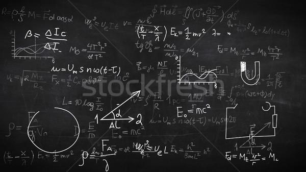 Formule illustrazione scuola medici sfondo scienza Foto d'archivio © klss