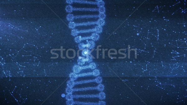 Concept of biochemistry with dna molecule  Stock photo © klss