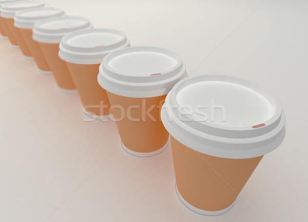 紙 コーヒーカップ 白 コーヒー ドリンク ストックフォト © klss