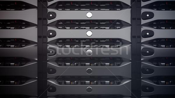 Modernes réseau serveurs rendu 3d serveur Photo stock © klss