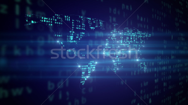 Global communication. Biggest cities. Stock photo © klss