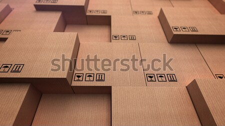 Cardboard boxes with copyspace Stock photo © klss