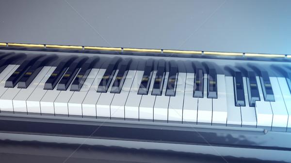 黒白 キー ピアノ 3D レンダリング 音楽 ストックフォト © klss