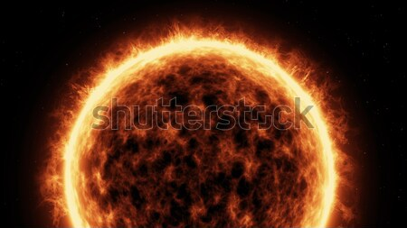 Sun Surface And Solar Flares Stock photo © klss
