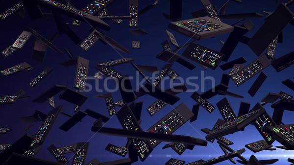 リモート 3D レンダリング 下がり ダウン 暗い ストックフォト © klss