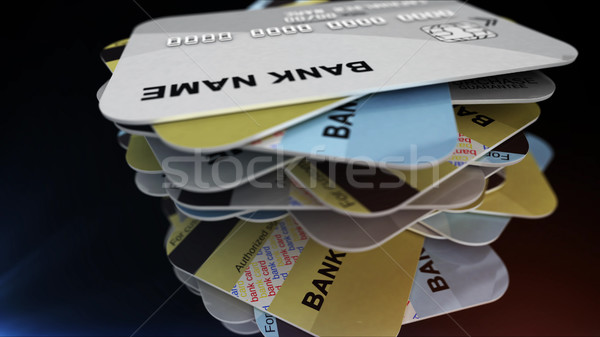 A stack of plastic cards Stock photo © klss