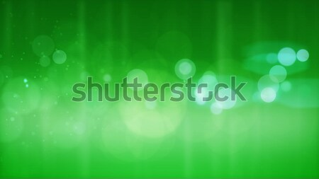 Abstract groene deeltjes cirkels water Stockfoto © klss