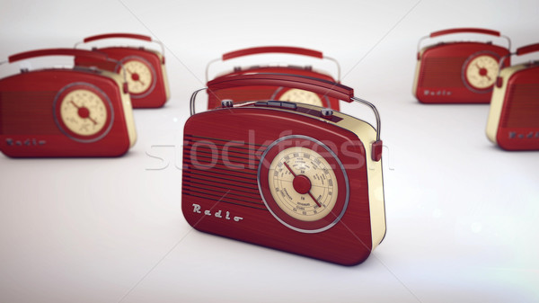 Old radios from 1950 and the years. Stock photo © klss