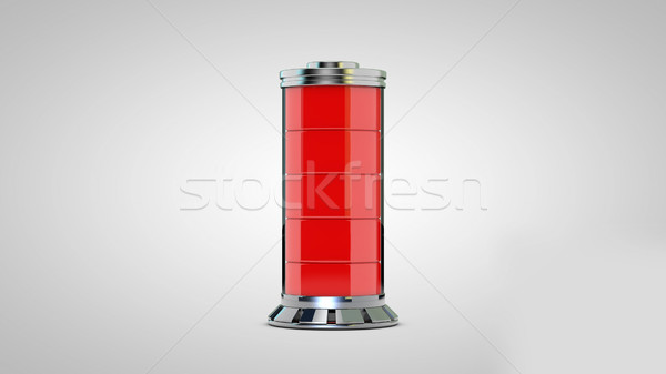 AA battery. Isolated on white. Stock photo © klss