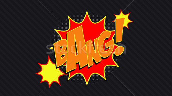 Bang! comic cloud. Stock photo © klss