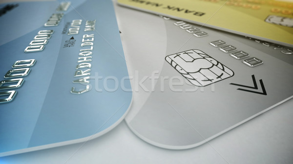 Color credit cards Stock photo © klss