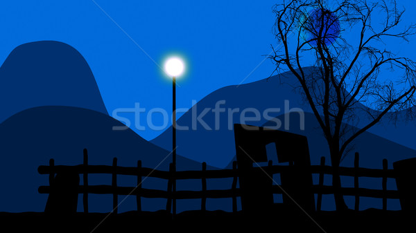 Lamppost on a graveyard Stock photo © klss