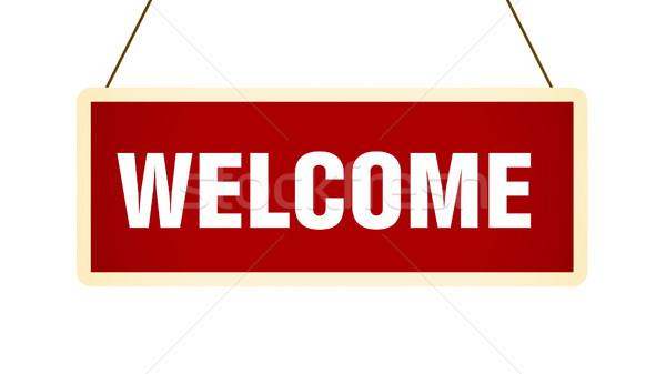 歓迎 バナー 実例 デザイン 芸術 にログイン ストックフォト © klss