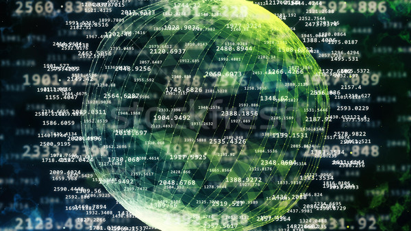 Abstract sphere from digital numbers. Stock photo © klss