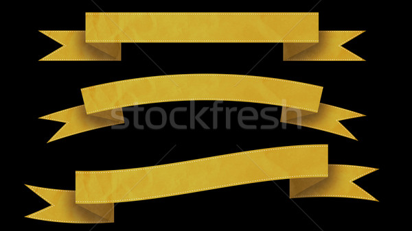 Yellow Ribbon banners for your text.  Stock photo © klss