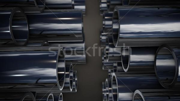 金属 スタック 反射 3D レンダリング ストックフォト © klss