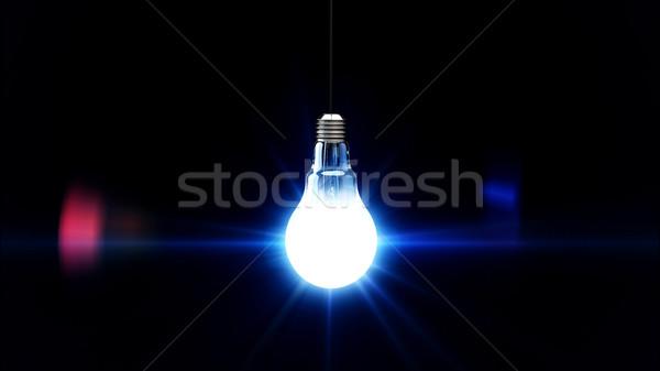 light bulb lit Stock photo © klss