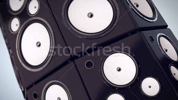 Bass Lautsprecher Audio Stereo Sound Musik Stock foto © klss