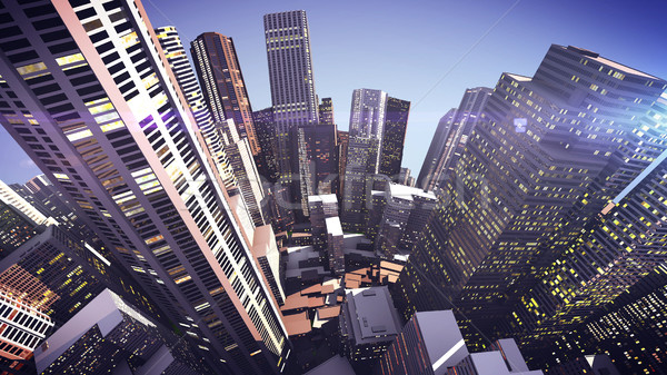 Stock photo: 3D Skyscrapers