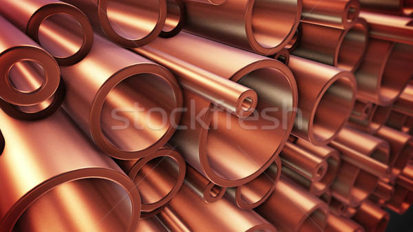 Copper pipes Stock photo © klss