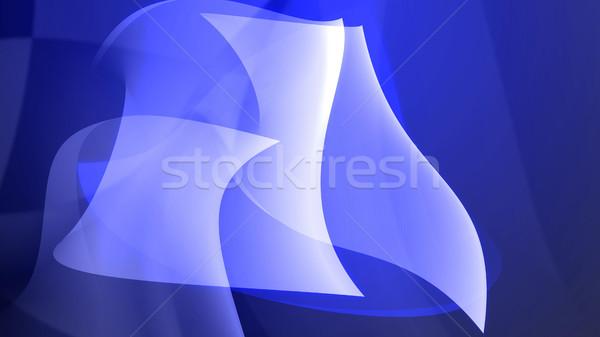 аннотация холодно синий искусства дизайна Сток-фото © klss