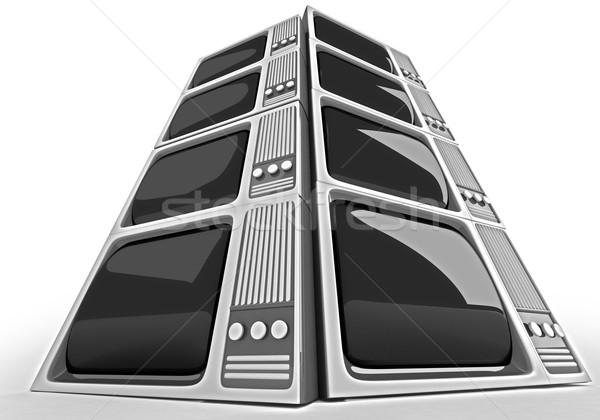 3D render Retro TV Stock photo © klss