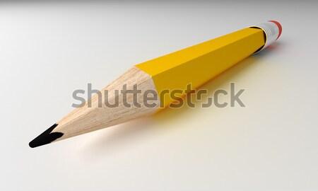 карандашом изолированный серый 3d визуализации подробный бумаги Сток-фото © klss