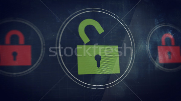 Unlocked icon  Stock photo © klss