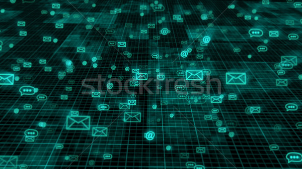 Web internet mail technologie abstract donkere Stockfoto © klss