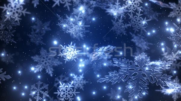 природного Рождества звездой ночное небо Сток-фото © klss