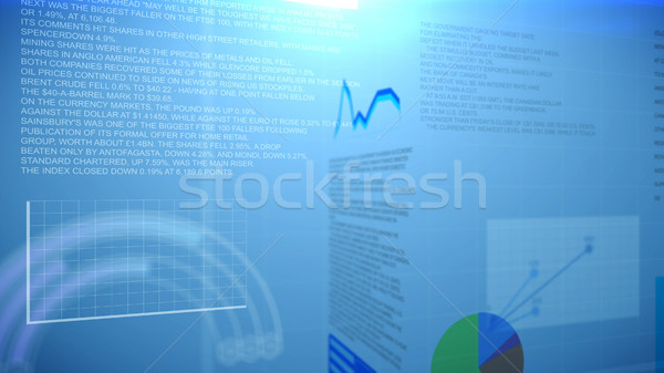 Graphs and Charts Report Stock photo © klss