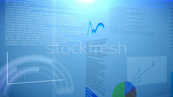 Grafikler rapor turta Stok fotoğraf © klss