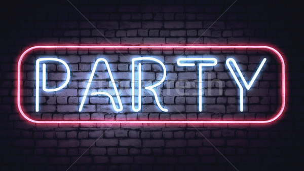 Neon PARTY sign Stock photo © klss