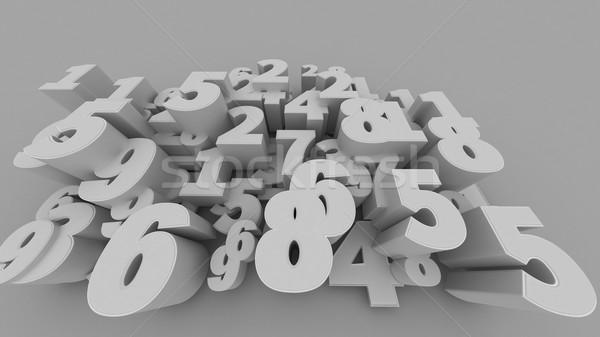 3D numery streszczenie komputera wygenerowany oddać Zdjęcia stock © klss